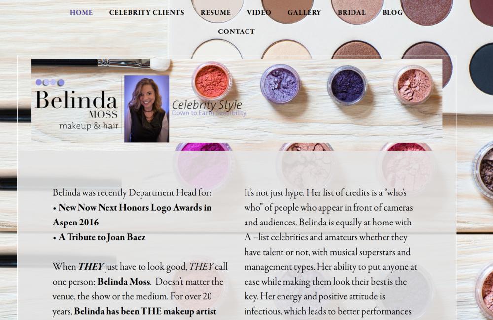 Belinda Moss Makeup web site