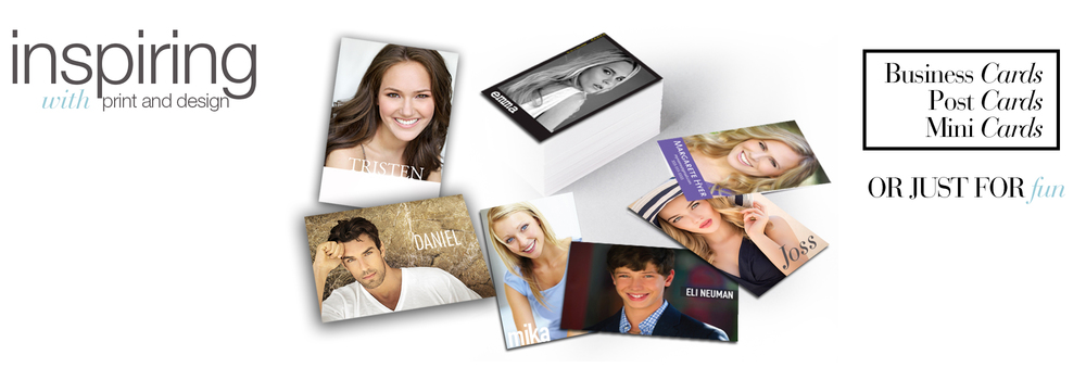Business cards, postcards, minicards