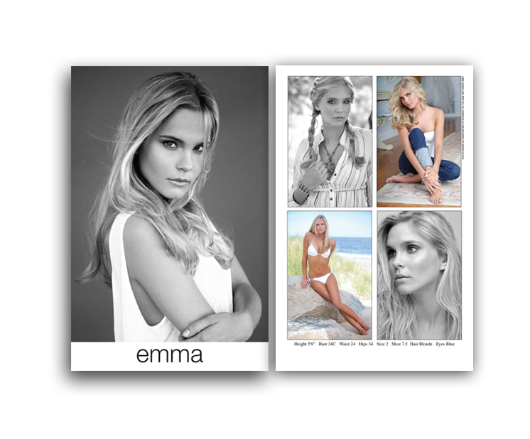 Model Composite Card Sample