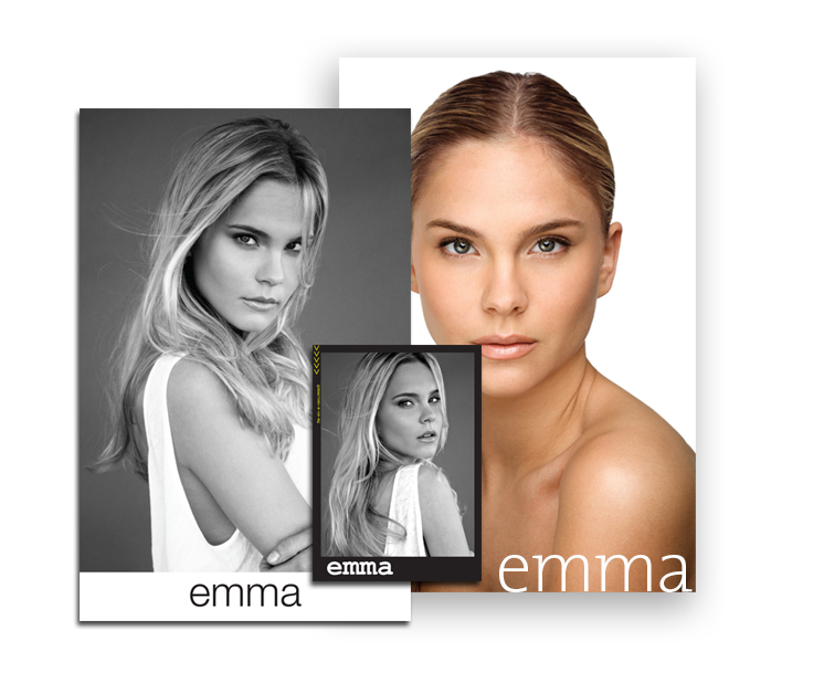 the starter pack 25 model comp card 8x10 headshot and business
