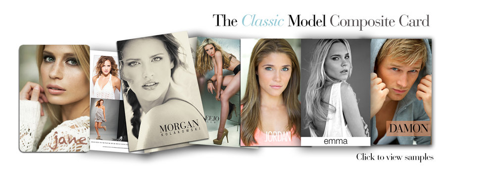 Model composite card samples
