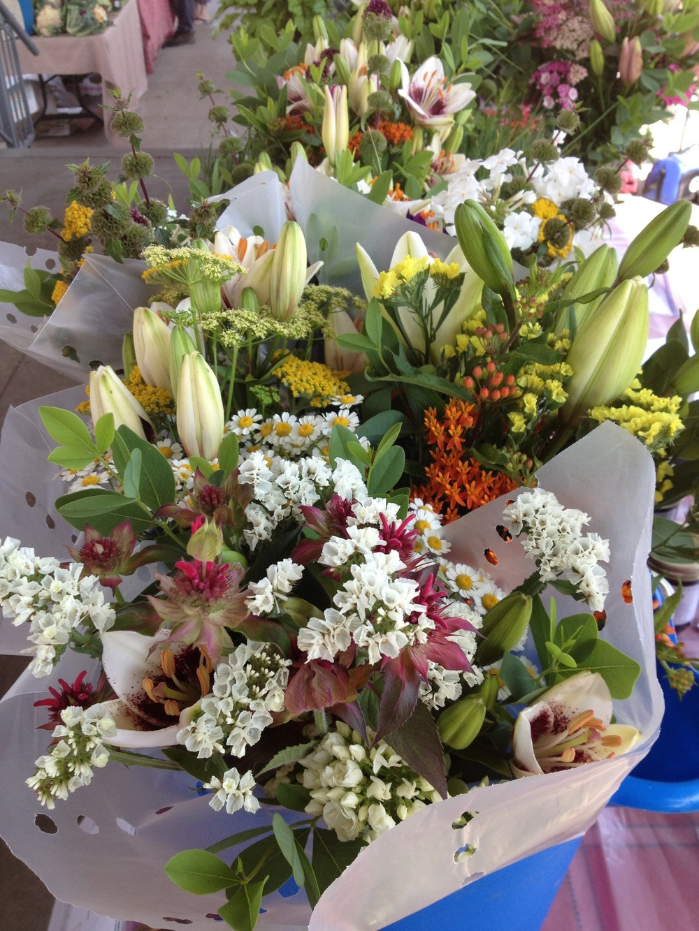 June bouquets at the Hopkinsville-Christian County Downtown Farmers Market.