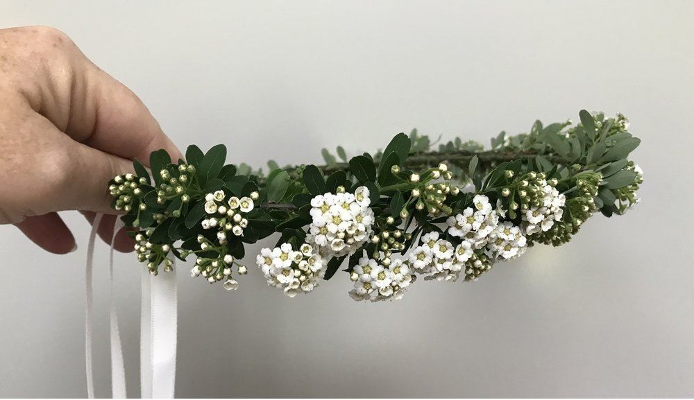 Flower crown—spirea