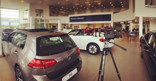 Spending today shootin for @sytnergroup @volkswagen #fs7 loving the new @miller tripod #miller @cinevate @canon  @sonyalpha #filmmaking @nickarmstrongfilm