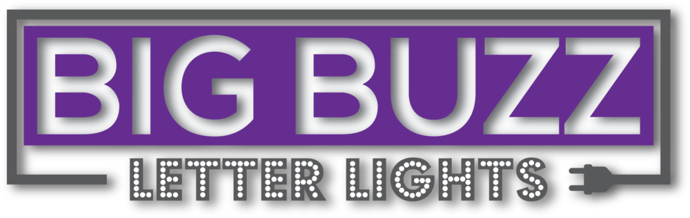 Big Buzz Letter Lights