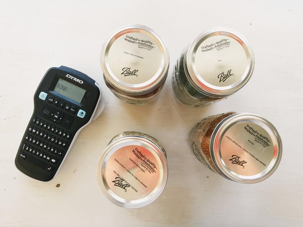 diy open shelving spices
