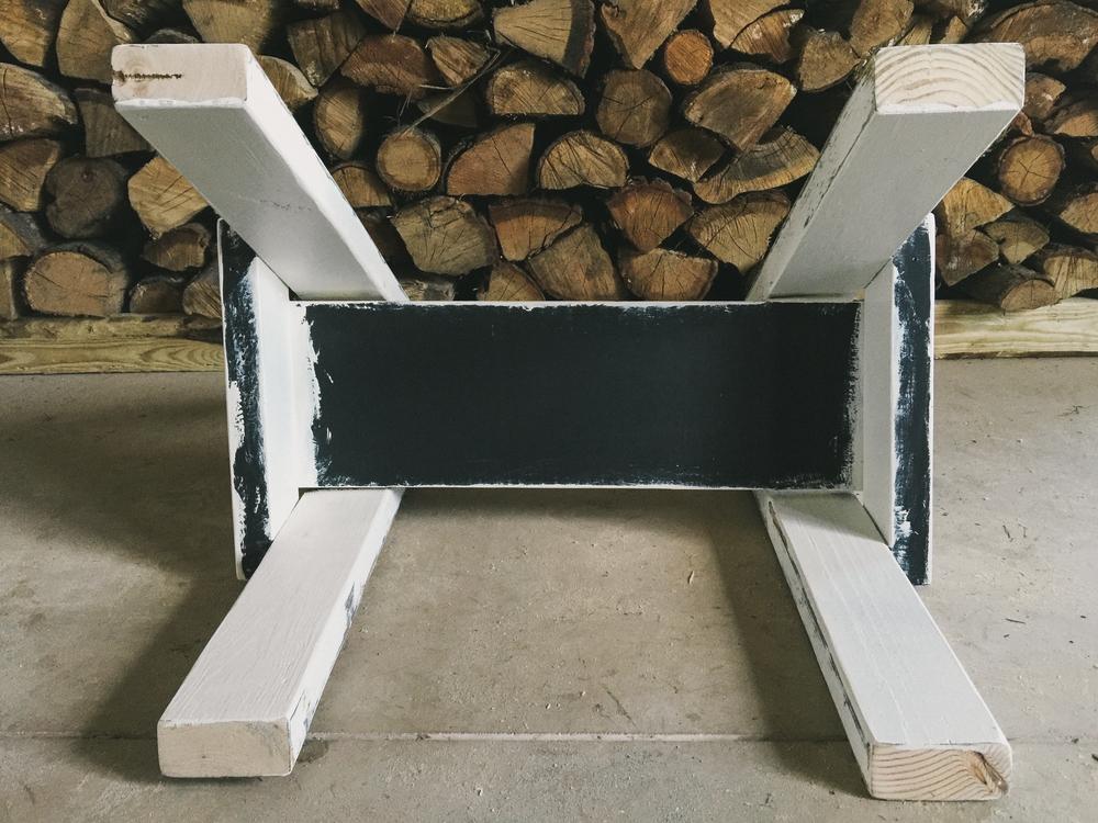 DIY trestle leg table