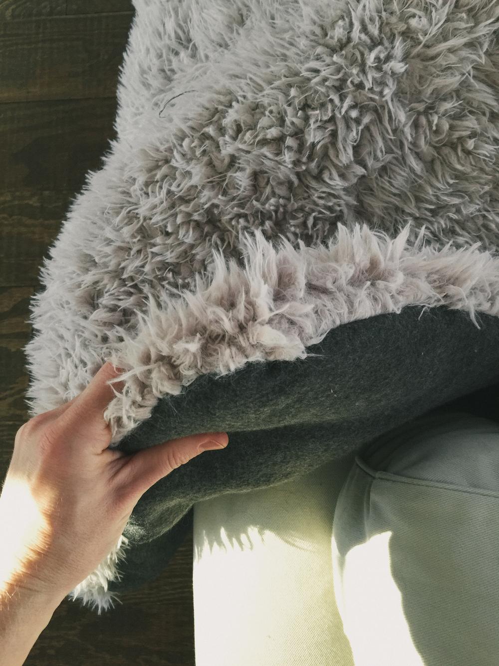 DIY faux fur rug