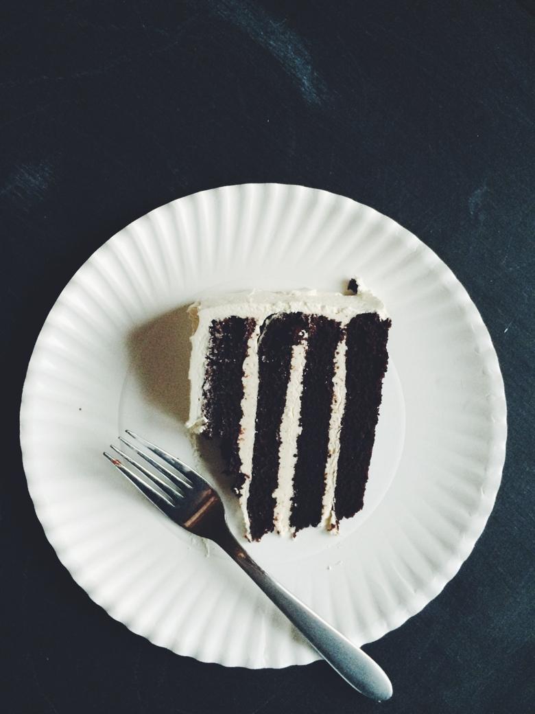 Chocolate Cake + Italian Meringue Buttercream Icing (Gluten Free + Dairy Free)