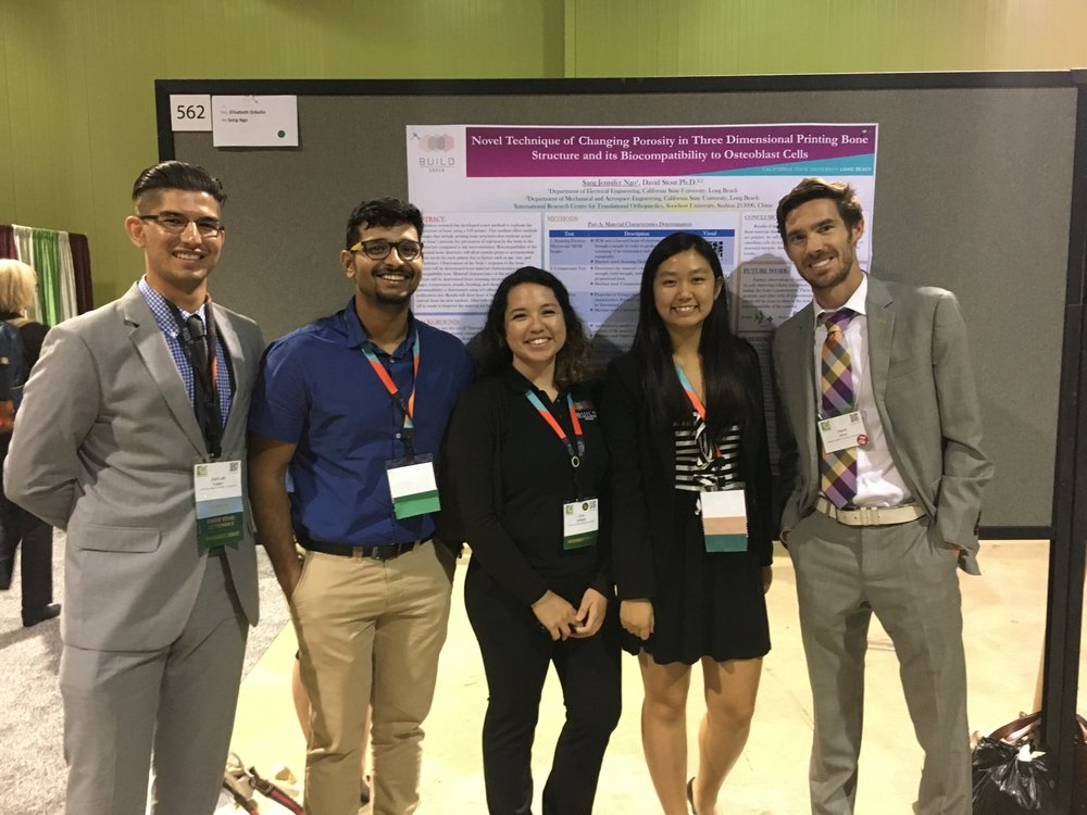 Some of LBBL at SACNAS 2016, featuring Jennifer Ngo's poster presentation.