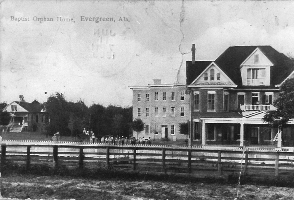 Early campus, eventually built in Evergreen