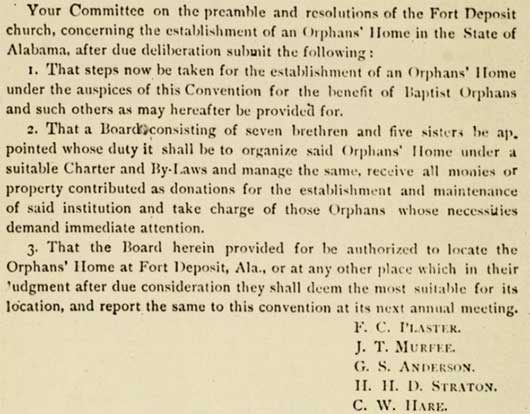 Convention meeting minutes from 1890