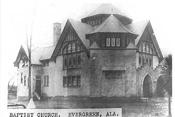 Evergreen Baptist, where the children attended and Father Stewart had been pastor