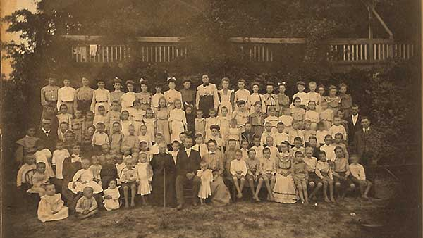 Early 1900s with J.W. Stewart sitting at middle front