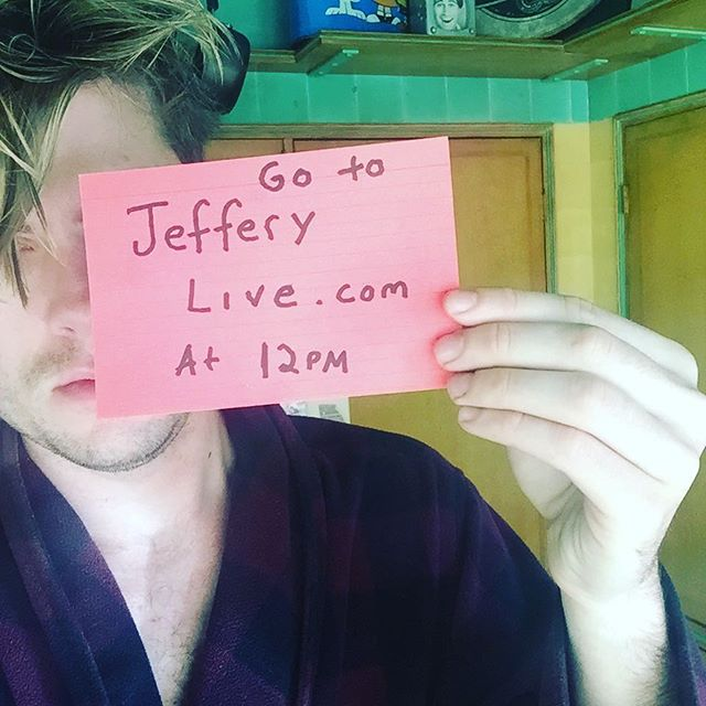 New episode of #jefferylive today at 12PM! I promise to be more awake than I am here.