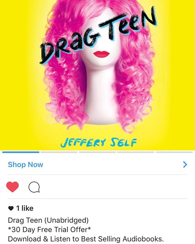 Get a 30 day free trial of my favorite app Audible.com and hear me read my book Drag Teen!