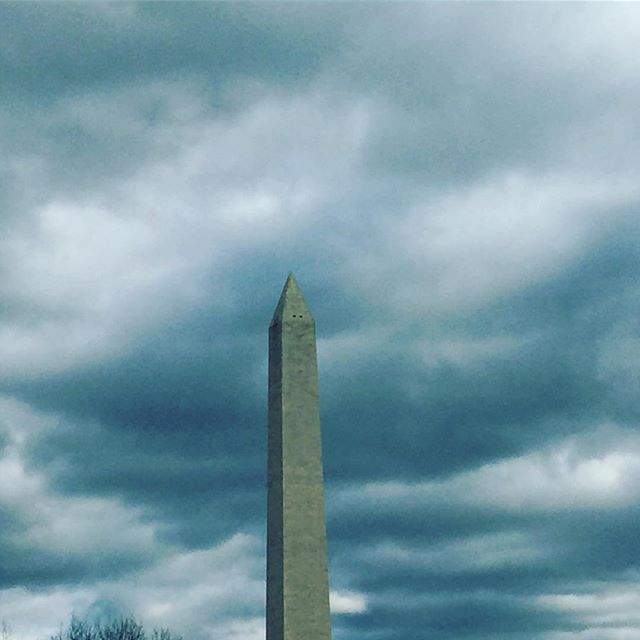 Calm before the storm of the next 4 (ish) years. DC feels spooky and sad today.