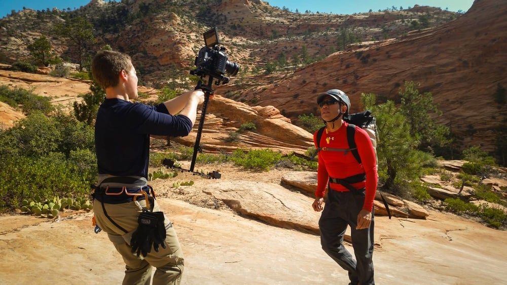 Filming in southern Utah. Photo by Francisco Camberos.