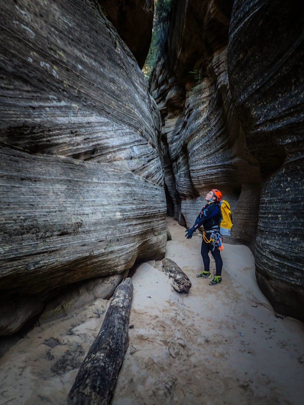 Admiring the beauty in Imlay, one of the most beautiful slot canyons in Zion National Park. Photo by Bronic Bednarek.