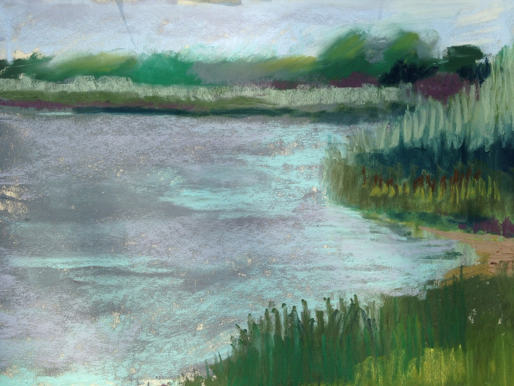 Maurice River Pastel Two