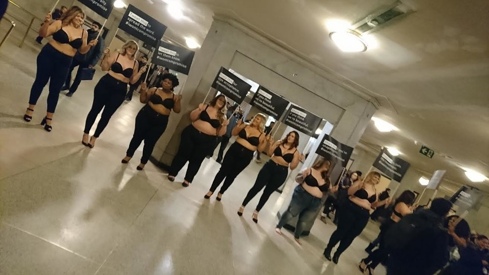 These beautiful women standing together for the greater good of self love and bodypositivity! @tessholiday @mizwoochic @caterinamoda @killerkurves @isabellaforget @hourglasscath @breebeexox @meredithshawtoronto