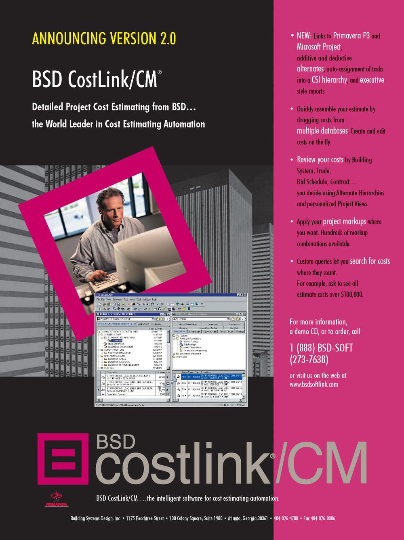 BSD CostLink/CM Magazine Ad