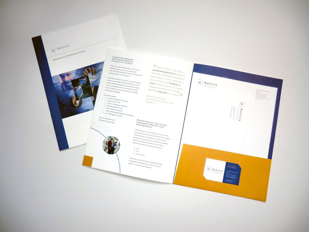 Aptiris Marketing Collateral Pocketfolder