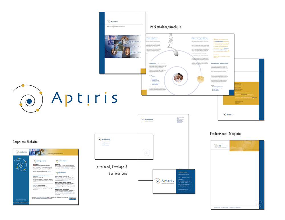 Aptiris Branding, Office, and Marketing Collateral