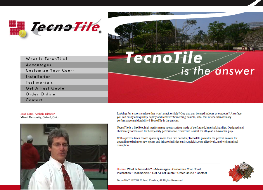 Tecno-Tile Website