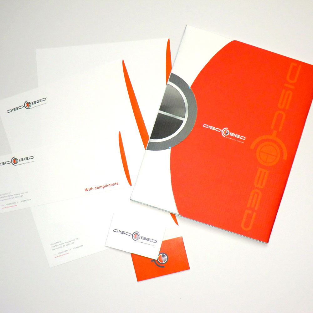 DiscOBed Brand Identity and Office Collateral