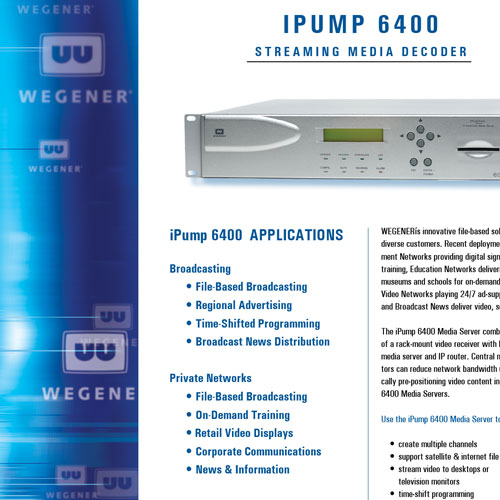 Wegener Sales Sheet