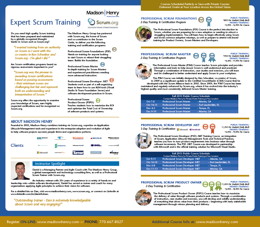 Madison-Henry Scrum Training Direct-Mailer Inside