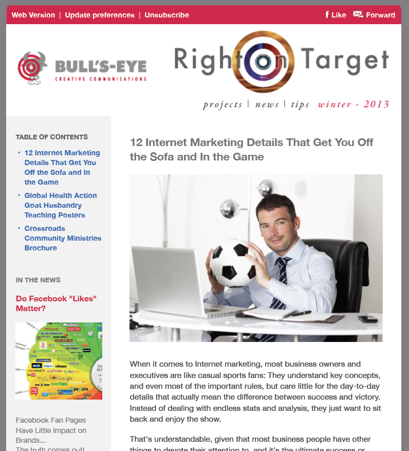 Bulls-Eye Winter Newsletter 2013