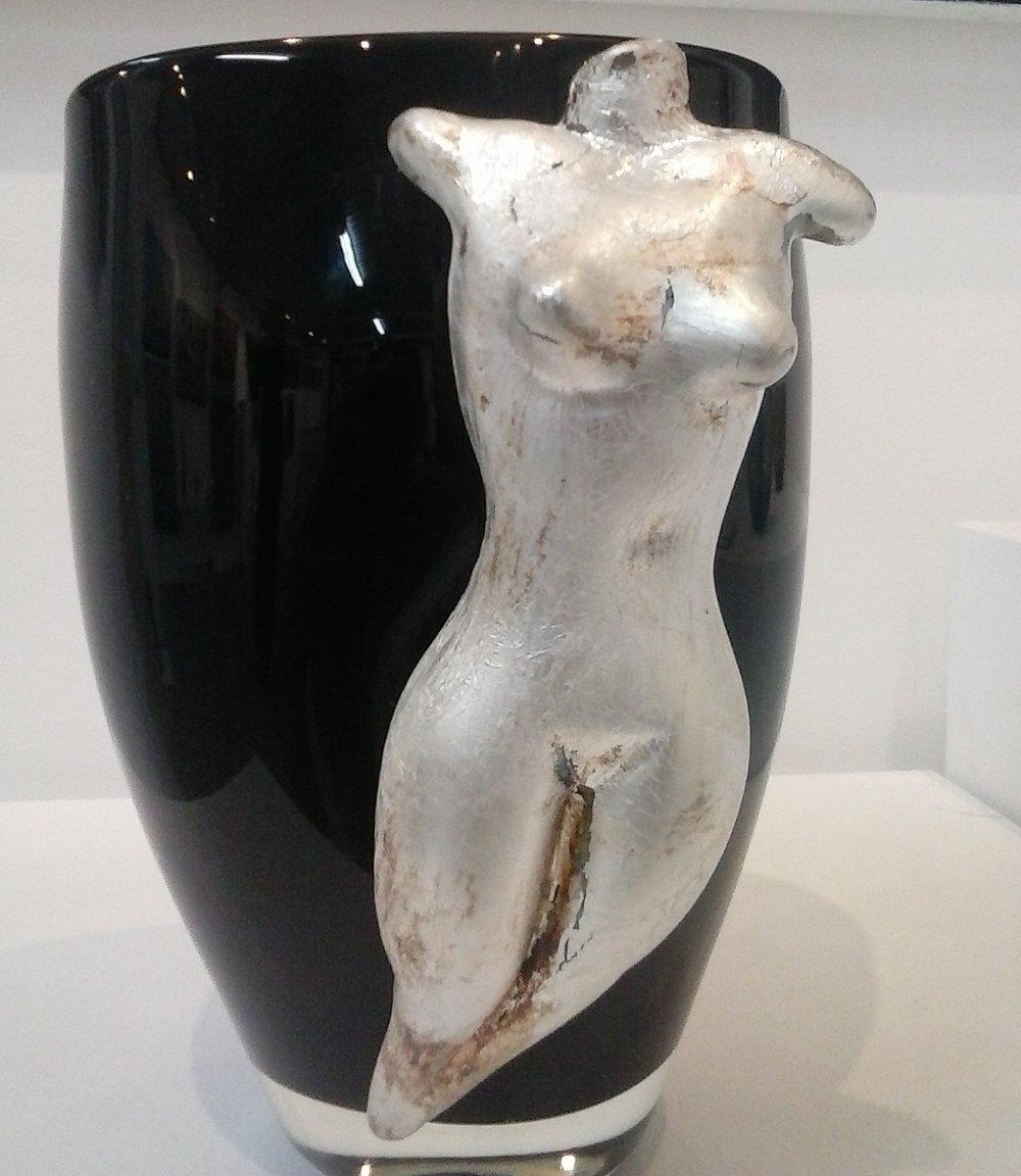 Vase with Silver Torso -SOLD