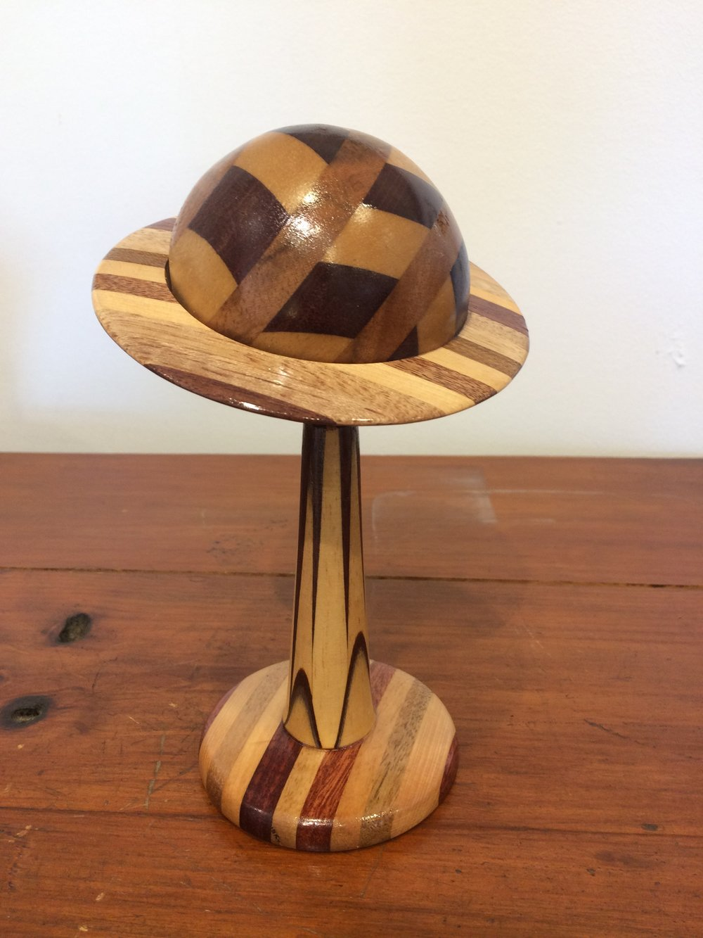 Planet Saturn created from assorted Australian timbers