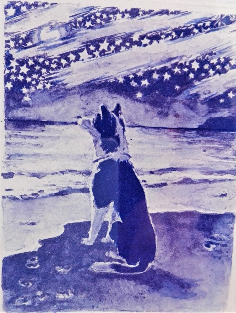 Midnight Dog - SOLD