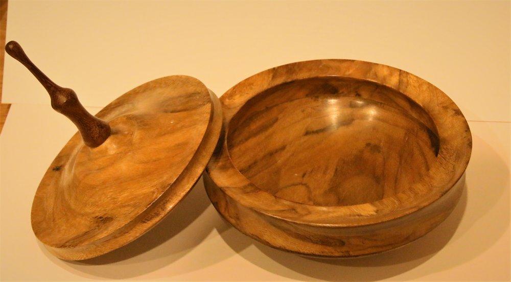 NEW - Lidded Bowl - Marri and Jarrah