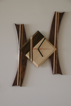 Clock - Walnut, Huon pine, Marri, Jarrah, Ebony - SOLD