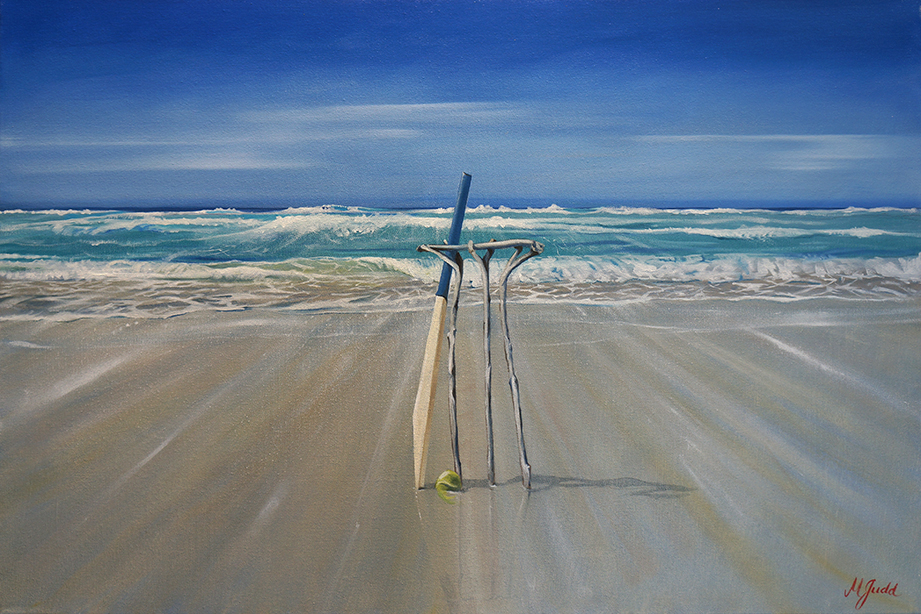 Homage to Beach Cricket - SOLD