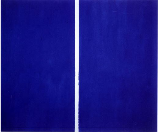 This painting by New York abstract artist Barnett Newman sold for a $43.8 million at Sotheby's in 2013. Painted in 1953.
