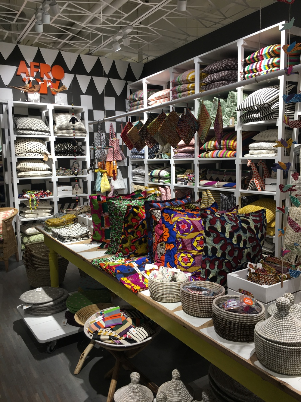 Homeware brand Afro art at Swedish department store, Athlens.