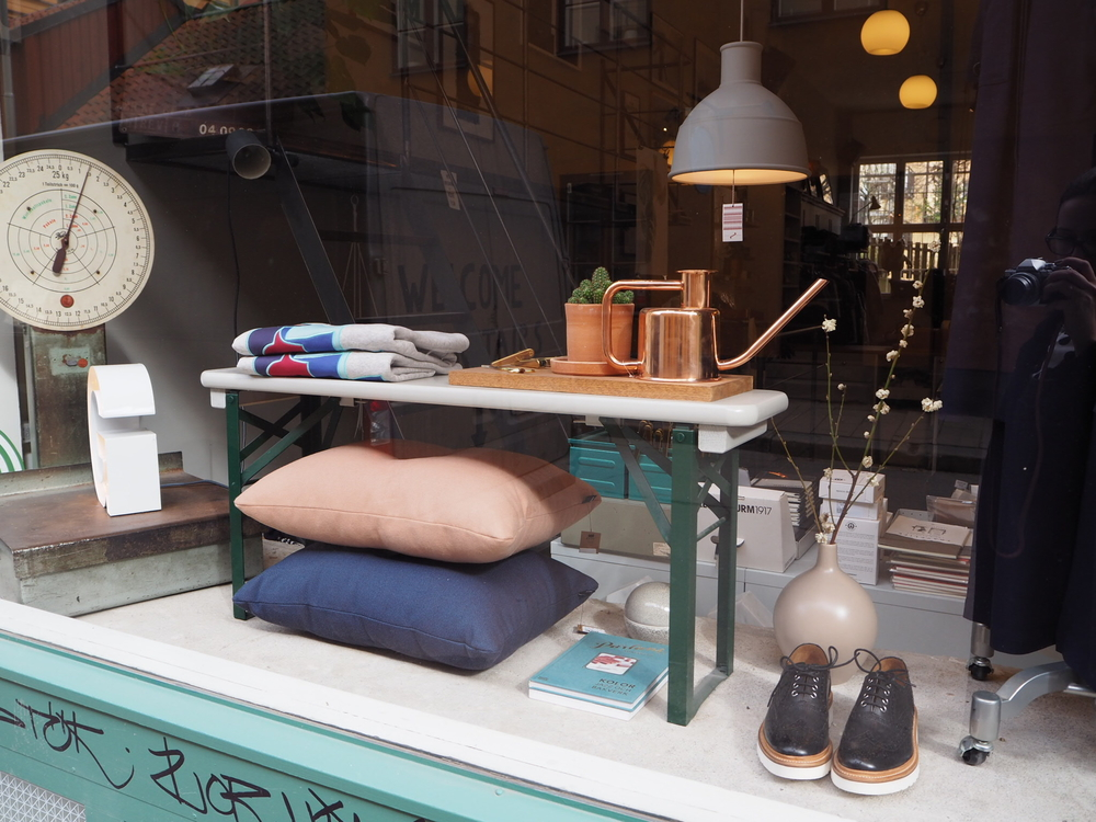The Window display at Grandpa  (fashion/ homeware accessories boutique)