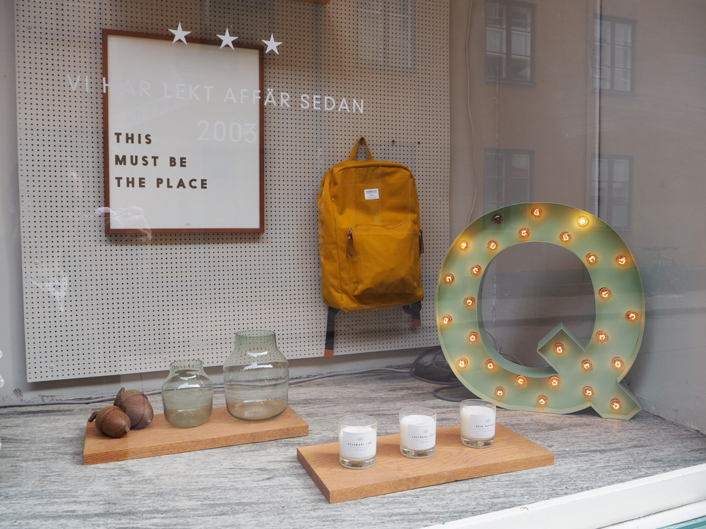 The window display at Grandpa (Fashion and interior accessories boutique)