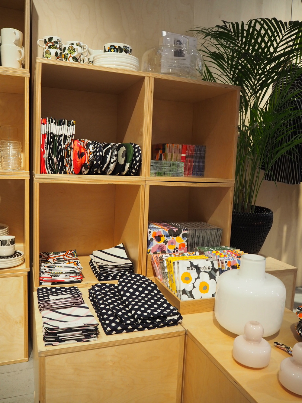 Bold graphic prints at Marimekko, Stockholm.