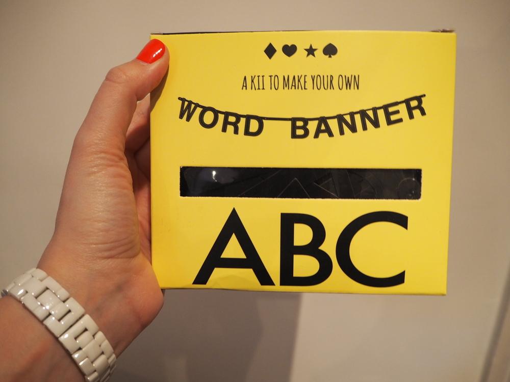 DIY word banner