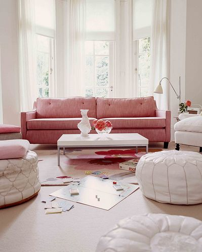 dreamy pink sofa