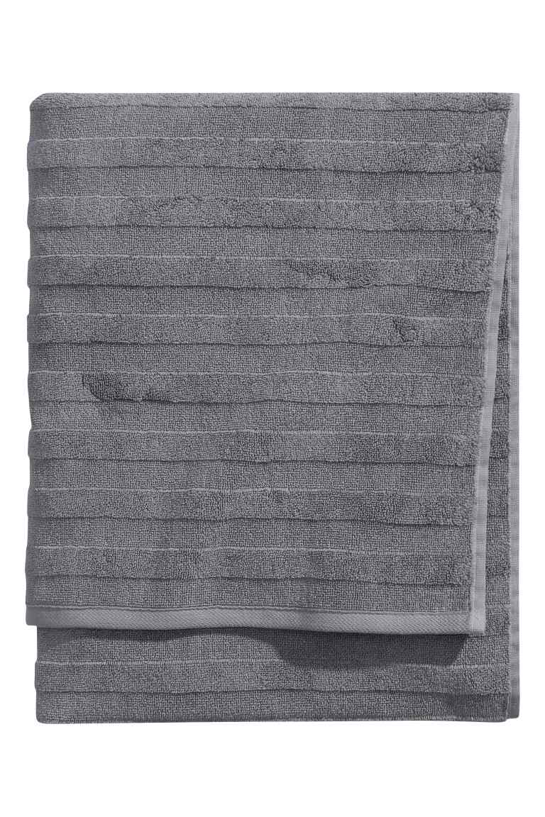H&M BATH TOWEL - GREY £12.99