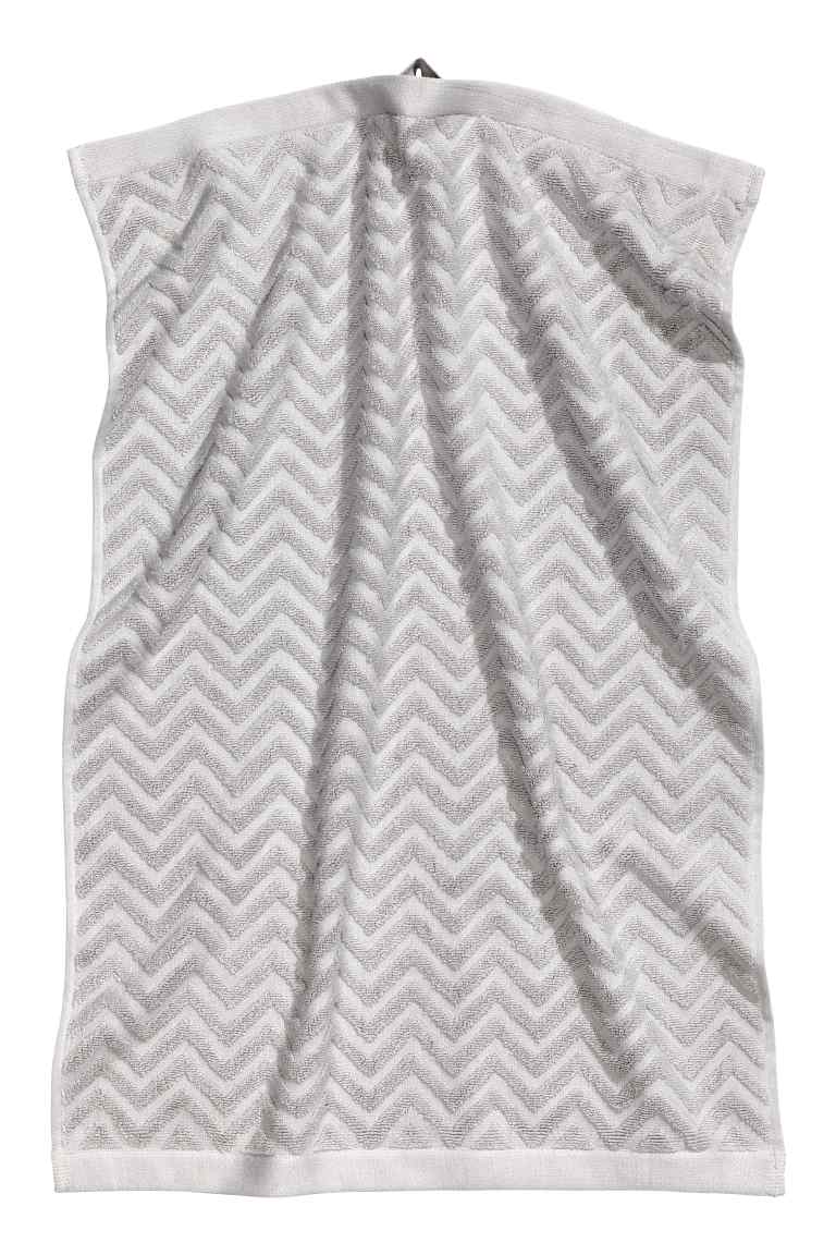 H&M HAND TOWEL - LIGHT GREY £3.99