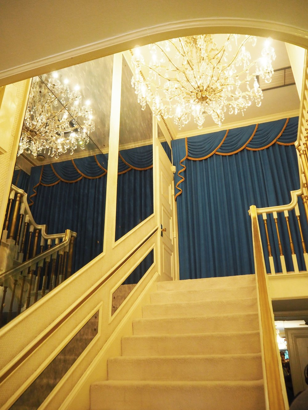 The hallway inside Graceland {Elvis Presley's home, in Memphis Tennessee}. To read more and see more pics, click here.