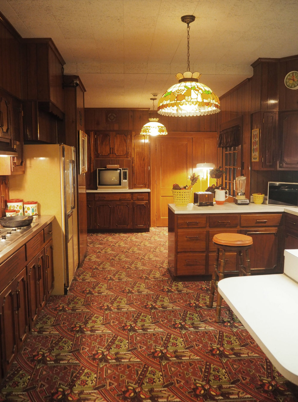 The Kitchen inside Elvis Presley's Graceland. To see more pics, click on the photo.